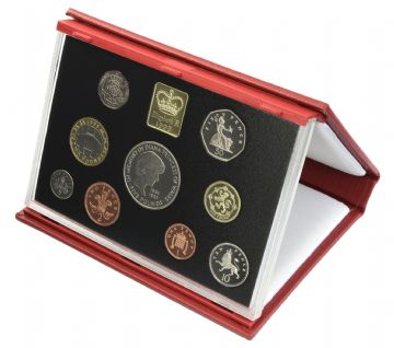 1999 Proof set red Leather deluxe